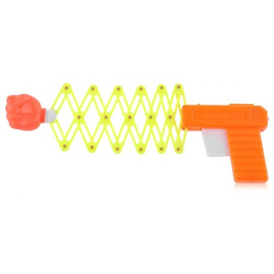 1PC Retractable Elastic Gun Shape Shooter Fist Tricky Toy Gift for Child Kid