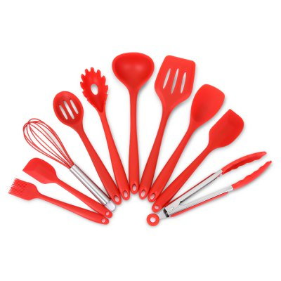 10PCS Silicone Kitchen Non-stick Utensil