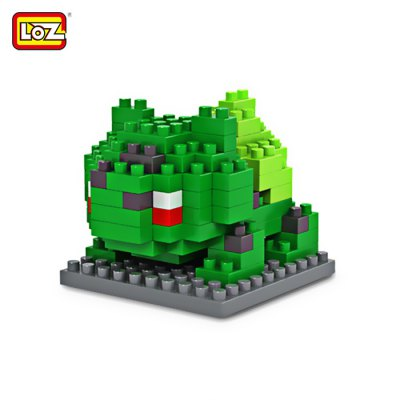 LOZ 120Pcs M - 9139 Pokemon Bulbasaur Building Block Educational Toy for Cooperation AbilityBlock Toys<br>LOZ 120Pcs M - 9139 Pokemon Bulbasaur Building Block Educational Toy for Cooperation Ability<br><br>Age: 9 Years+<br>Applicable gender: Unisex<br>Brand: LOZ<br>Character Name: Bulbasaur<br>Design Style: Figure Statue<br>Features: DIY<br>Material: ABS<br>Package Contents: 120 x Module, 1 x User Manual<br>Package size (L x W x H): 7.50 x 7.50 x 7.50 cm / 2.95 x 2.95 x 2.95 inches<br>Package weight: 0.0500 kg<br>Product Model: M - 9139<br>Product prototype: Pokemon<br>Puzzle Style: 3D Puzzle<br>Small Parts : Yes<br>Type: Building Blocks<br>Washing: Yes