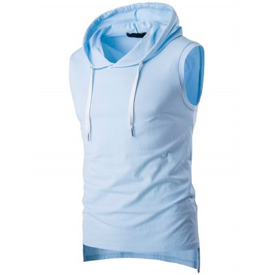 Loose Fit Hooded Sleeveless T Shirt