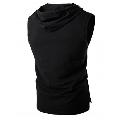 Loose Fit Hooded Sleeveless T ShirtMens Short Sleeve Tees<br>Loose Fit Hooded Sleeveless T Shirt<br><br>Material: Cotton<br>Package Content: 1 x T Shirt<br>Package size: 35.00 x 20.00 x 2.00 cm / 13.78 x 7.87 x 0.79 inches<br>Package weight: 0.2300 kg<br>Pattern Type: Solid<br>Product weight: 0.1800 kg<br>Season: Summer<br>Size: L,M,XL,XXL<br>Sleeve Length: Sleeveless<br>Style: Casual