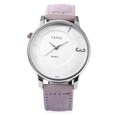 FEIFAN 62086G Japan Movement Unisex Quartz WatchUnisex Watches<br>FEIFAN 62086G Japan Movement Unisex Quartz Watch<br><br>Available Color: Black,Brown,Gray,Khaki<br>Band material: Canvas + Leather<br>Band size: 24.70 x 2.00 cm / 9.72 x 0.79 inches<br>Brand: FEIFAN<br>Case material: Metal<br>Clasp type: Pin buckle<br>Dial size: 4.20 x 4.20 x 1.00 cm / 9.72 x 9.72 x 0.39 inches<br>Display type: Analog<br>Movement type: Quartz watch<br>Package Contents: 1 x FEIFAN 62086G Quartz Watch<br>Package size (L x W x H): 25.70 x 5.30 x 2.00 cm / 10.12 x 2.09 x 0.79 inches<br>Package weight: 0.0750 kg<br>People: Female table,Male table<br>Product size (L x W x H): 24.70 x 4.20 x 1.00 cm / 9.72 x 1.65 x 0.39 inches<br>Product weight: 0.0420 kg<br>Shape of the dial: Round<br>Watch style: Fashion, Casual<br>Water resistance : Life water resistant