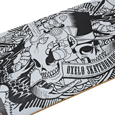 Oxelo Four Wheels Skateboard with Printing PatternSkateboard<br>Oxelo Four Wheels Skateboard with Printing Pattern<br><br>Board Material: Maple, Maple<br>Brand: Oxelo, Oxelo<br>Color: Golden,Red,White, Golden,Red,White<br>Package Content: 1 x Oxelo Four Wheels Skateboard, 1 x Oxelo Four Wheels Skateboard<br>Package size: 82.00 x 21.00 x 12.00 cm / 32.28 x 8.27 x 4.72 inches, 82.00 x 21.00 x 12.00 cm / 32.28 x 8.27 x 4.72 inches<br>Package weight: 2.9500 kg, 2.9500 kg<br>Product size: 79.00 x 20.00 x 10.00 cm / 31.1 x 7.87 x 3.94 inches, 79.00 x 20.00 x 10.00 cm / 31.1 x 7.87 x 3.94 inches<br>Product weight: 2.3000 kg, 2.3000 kg<br>Skateboard Truck: ABEC3, ABEC3<br>Wheel Diameter: 54 mm , 54 mm<br>Wheels: PU, PU
