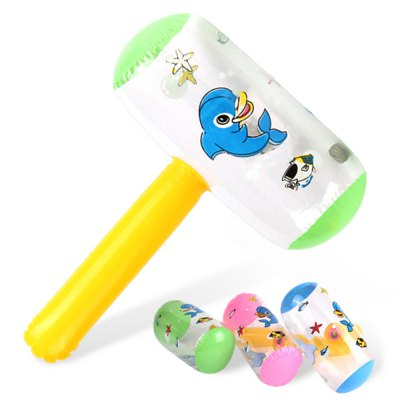 Children Inflatable Hammer with Bell Outdoor Indoor Sport ToyOutdoor Fun &amp; Sports<br>Children Inflatable Hammer with Bell Outdoor Indoor Sport Toy<br><br>Features: Inflatable<br>Materials: PVC<br>Package Contents: 1 x Inflatable Hammer Toy<br>Package size: 15.00 x 10.00 x 5.00 cm / 5.91 x 3.94 x 1.97 inches<br>Package weight: 0.0650 kg<br>Product size: 24.00 x 12.00 x 34.00 cm / 9.45 x 4.72 x 13.39 inches<br>Series: Entertainment<br>Theme: Animals