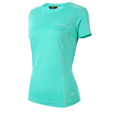 TOREAD Female Fitness Running T-shirt Mesh Back Design