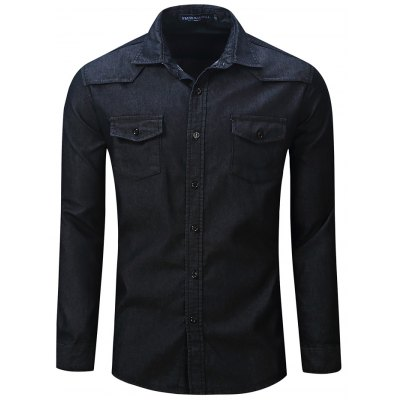 FREDD MARSHALL FM094 Male Casual Jeans Long Sleeve Shirt