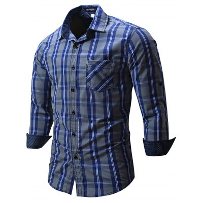 FREDD MARSHALL FM102 Male Check Casual Long Sleeve ShirtMens Shirts<br>FREDD MARSHALL FM102 Male Check Casual Long Sleeve Shirt<br><br>Brand: FREDD MARSHALL<br>Material: Cotton<br>Package Contents: 1 x FREDD MARSHALL FM102 Male Shirt<br>Package size: 28.00 x 32.00 x 2.00 cm / 11.02 x 12.6 x 0.79 inches<br>Package weight: 0.3300 kg<br>Product weight: 0.2600 kg<br>Size: L,M,XL,XXL