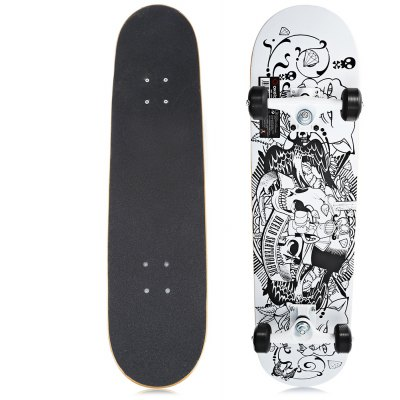 Oxelo Four Wheels Skateboard with Printing Pattern
