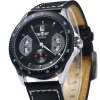 Mechanical Luxury Watch with Calendar Round Dial and Leather Watchband for Men deal