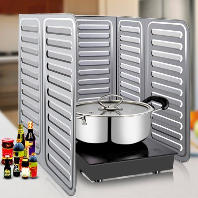 Kitchen Oil Splash Guard Cooking Cover Anti Splatter ShieldOther Cooking Tools<br>Kitchen Oil Splash Guard Cooking Cover Anti Splatter Shield<br><br>Available Color: Silver<br>Material: Aluminium<br>Package Contents: 1 x Kitchen Oil Splash Guard<br>Package size (L x W x H): 30.00 x 35.00 x 5.00 cm / 11.81 x 13.78 x 1.97 inches<br>Package weight: 0.130 kg<br>Product size (L x W x H): 84.00 x 32.50 x 2.00 cm / 33.07 x 12.80 x 0.79 inches<br>Product weight: 0.075 kg<br>Type: Other Kitchen Accessories