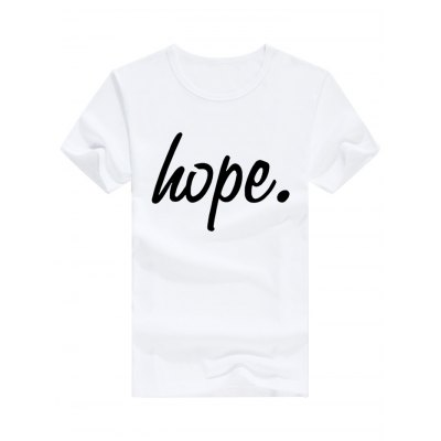 Male Slim Fitting Letter Print Cotton Casual Short Sleeve T-shirt
