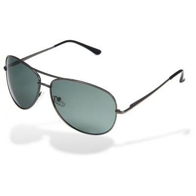 Male Sunglasses Intensified Polarizer Glare Blocking Glasses with Metal Material