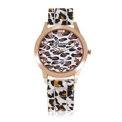geneva Leopard Print Women Quartz Watch Rubber BandWomens Watches<br>geneva Leopard Print Women Quartz Watch Rubber Band<br><br>Band material: Rubber<br>Band size: 25.00 x 2.00 cm / 9.84 x 0.79 inches<br>Brand: Geneva<br>Case material: Alloy<br>Clasp type: Pin buckle<br>Dial size: 4.00 x 4.00 x 0.80 cm / 1.57  x 1.57 x 0.31 inches<br>Display type: Analog<br>Movement type: Quartz watch<br>Package Contents: 1 x Women Quartz Watch<br>Package size (L x W x H): 26.00 x 5.00 x 1.80 cm / 10.24 x 1.97 x 0.71 inches<br>Package weight: 0.0740 kg<br>Product size (L x W x H): 25.00 x 4.00 x 0.80 cm / 9.84 x 1.57 x 0.31 inches<br>Product weight: 0.0430 kg<br>Shape of the dial: Round<br>Watch style: Fashion<br>Watches categories: Female table