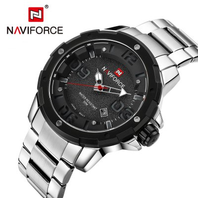 NAVIFORCE NF9078 Business Men Quartz WatchMens Watches<br>NAVIFORCE NF9078 Business Men Quartz Watch<br><br>Band material: Stainless Steel<br>Band size: 23 x 2.4 cm / 9.06 x 0.94 inches<br>Brand: Naviforce<br>Case material: Alloy<br>Clasp type: Folding clasp with safety<br>Dial size: 4.75 x 4.75 x 1.45 cm / 1.87 x 1.87 x 0.57 inches<br>Display type: Analog<br>Movement type: Quartz watch<br>Package Contents: 1 x NAVIFORCE NF9078 Business Men Quartz Watch, 1 x Box<br>Package size (L x W x H): 11.50 x 8.60 x 6.60 cm / 4.53 x 3.39 x 2.6 inches<br>Package weight: 0.3000 kg<br>Product size (L x W x H): 23.00 x 4.75 x 1.45 cm / 9.06 x 1.87 x 0.57 inches<br>Product weight: 0.1850 kg<br>Shape of the dial: Round<br>Special features: Date<br>Watch color: White, Red, Coffee, Black + White, Black + Red<br>Watch style: Business<br>Watches categories: Male table<br>Water resistance : 30 meters