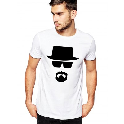 Male Slim Fitting Eyeglasses Hat Pattern Short Sleeve T-shirtMens Short Sleeve Tees<br>Male Slim Fitting Eyeglasses Hat Pattern Short Sleeve T-shirt<br><br>Material: Cotton<br>Neckline: Round Neck<br>Package Content: 1 x Male T-shirt<br>Package size: 35.00 x 20.00 x 2.00 cm / 13.78 x 7.87 x 0.79 inches<br>Package weight: 0.2400 kg<br>Product weight: 0.1800 kg<br>Season: Summer, Spring, Autumn<br>Size: L,M,XL,XXL,XXXL<br>Sleeve Length: Short Sleeves<br>Style: Sport, Fashion, Casual