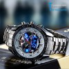 TVG KM - 468 Seal Elite Military LED Sports Watch Dual Movement Analog - Digital Quartz Wrist Watch wtih Luminous Hands Stainless Steel Strap - WHITE