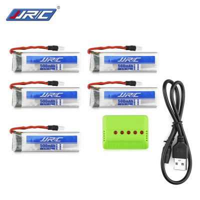 Original JJRC 5 x 3.7V 500mAh LiPo Accessory for H37