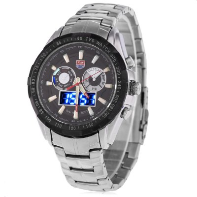 Tvg 579 Male Dual Time LED Watch Military Outdoor Sports Wristwatch