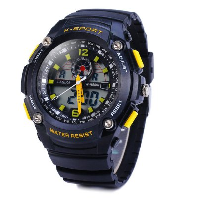 Lasika 9002 Double Movt LED Sports Army Watch 30M Water Resistance