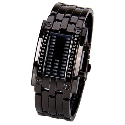 Women Watch Blue LED Time-Date Indicate