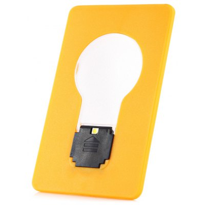 New products gadgets LED Design Renovation Credit Card Size Ultra - slim Fold - up LED Pocket Wallet / Purse Lamp / Light