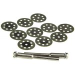 12PCS 30mm 8-hole Diamond Saw Blade Jade / Glass / Stone Grinding Plate