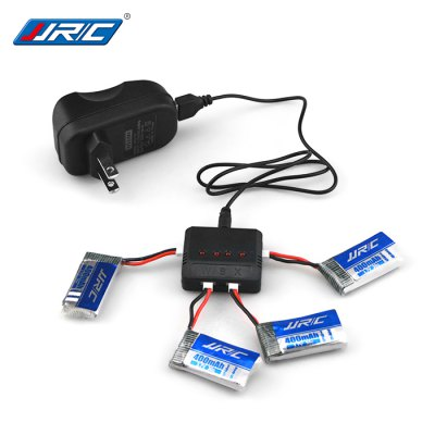 JJRC 4 x 3.7V 400mAh LiPo Battery + WSX Charger