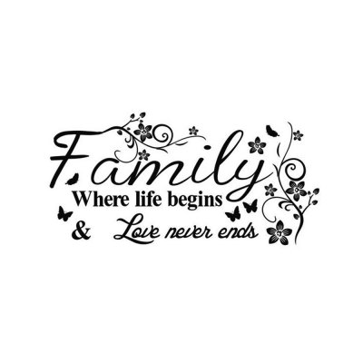 Family English Word Style Wall Sticker