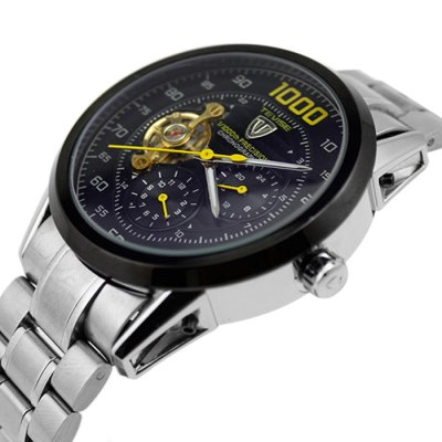 Tevise 8378 Automatic Mechanical Male WatchMechanical Watches<br>Tevise 8378 Automatic Mechanical Male Watch<br><br>Available Color: Black,White,Yellow<br>Band material: Stainless Steel<br>Brand: Tevise<br>Case material: Stainless Steel<br>Clasp type: Folding clasp with safety<br>Display type: Analog<br>Hour formats: 12/24 Hour<br>Movement type: Automatic mechanical watch<br>Package Contents: 1 x Tevise 8378 Automatic Mechanical Watch, 1 x Box<br>Package size (L x W x H): 10.00 x 4.00 x 2.00 cm / 3.94 x 1.57 x 0.79 inches<br>Package weight: 0.3170 kg<br>Product size (L x W x H): 19.00 x 4.50 x 1.60 cm / 7.48 x 1.77 x 0.63 inches<br>Product weight: 0.1500 kg<br>Shape of the dial: Round<br>Special features: Working small two stitches, Tourbillon<br>Style elements: Stainless Steel<br>The dial diameter: 4.5 cm / 1.77 inches<br>The dial thickness: 1.6 cm / 0.63 inches<br>Watch style: Business<br>Watches categories: Male table