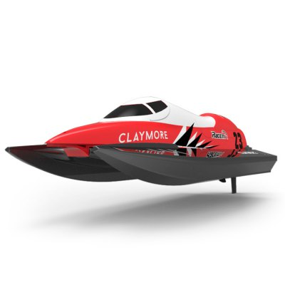 Volantex CLAYMORE V795 - 2 2.4GHz 2CH RC Boat - RTRRC Boats<br>Volantex CLAYMORE V795 - 2 2.4GHz 2CH RC Boat - RTR<br><br>Boat/Ship Power: Built-in rechargeable battery<br>Brand: Volantex<br>Channel: 2-Channels<br>Charging Time: About 2 hours<br>Detailed Control Distance: About 100m<br>Features: Radio Control<br>Functions: Turn left/right, Automatic Righting Function, Forward/backward<br>Material: Electronic Components, ABS<br>Package Contents: 1 x RC Boat, 1 x Transmitter, 1 x Wrench, 1 x Spare Tail Rotor, 1 x Magic Tape<br>Package size (L x W x H): 34.00 x 30.00 x 11.00 cm / 13.39 x 11.81 x 4.33 inches<br>Package weight: 1.0400 kg<br>Playing Time: 9~10mins<br>Product size (L x W x H): 25.50 x 9.80 x 9.00 cm / 10.04 x 3.86 x 3.54 inches<br>Product weight: 0.8000 kg<br>Remote Control: 2.4GHz Wireless Remote Control<br>Transmitter Power: 4 x 1.5V AA battery (not included)<br>Type: RC Boats