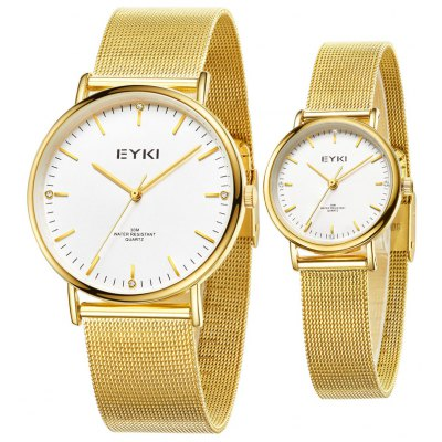 EYKI Casual 3ATM Waterproof Couple Watches