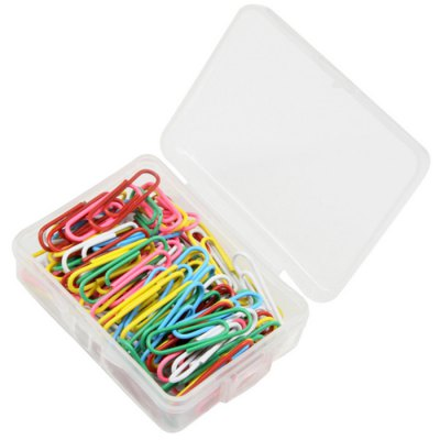 Deli 0024 Metal Colorful Paper Clips 100PCS / Box