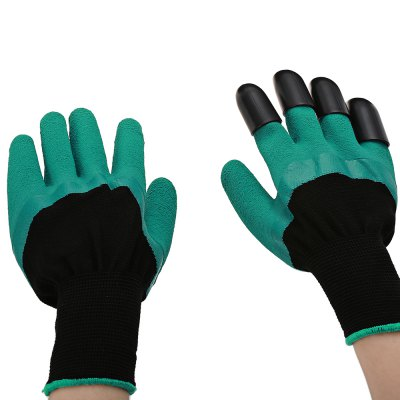 Paired Garden Safe Digging GlovesGarden Decking<br>Paired Garden Safe Digging Gloves<br><br>Material: Plastic, PU Rubber<br>Package Contents: 1 x Pair of Gloves<br>Package size (L x W x H): 26.00 x 15.20 x 8.00 cm / 10.24 x 5.98 x 3.15 inches<br>Package weight: 0.1190 kg<br>Product size (L x W x H): 25.50 x 14.00 x 4.50 cm / 10.04 x 5.51 x 1.77 inches<br>Product weight: 0.0840 kg