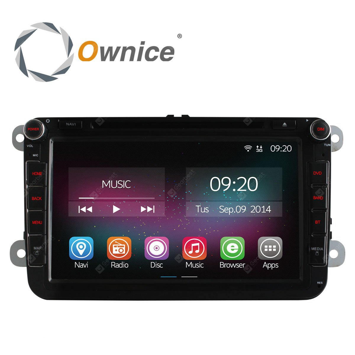 Ownice C200 OL 8901A Android 4.4.2 8.0 inch Car GPS DVD Multi-media Player