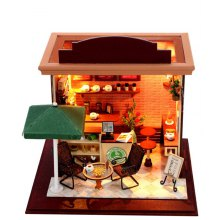 Doll House LOZ Street View Architecture ABS Cartoon Building Block