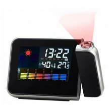 8190 Multifunction Projection Alarm Snooze Clock Super Clear LCD Display with Detailed Weather Station