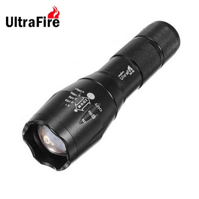 UltraFire Cree XML T6 Waterproof LED Flashlight Zooming Torch ( 5 Modes 1600Lm 1 x 18650 or 3 x AAA Battery )