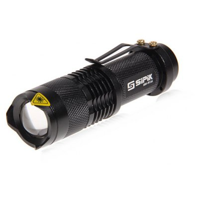 SIPIK SK68 LED Flashlight Black