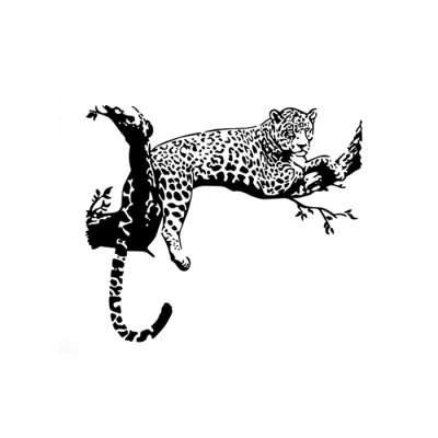 PVC Leopard Wall Decal Stickers Removable Water Resistant