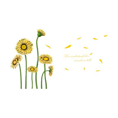 Sunflower Water Resistant Removable Wall Decor