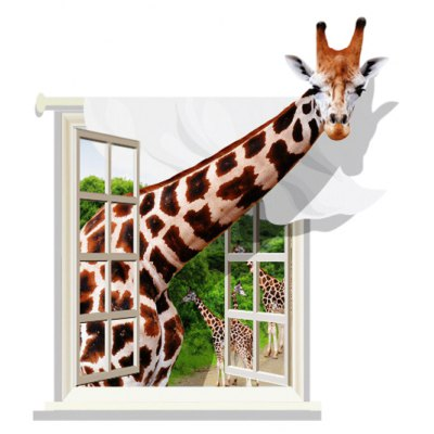3D Lovely Giraffe Design Removable Wall Stickers