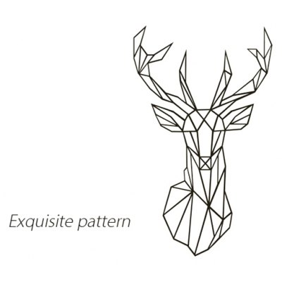 Deer Head Pattern Wall Art Sticker Creative Home Decoration