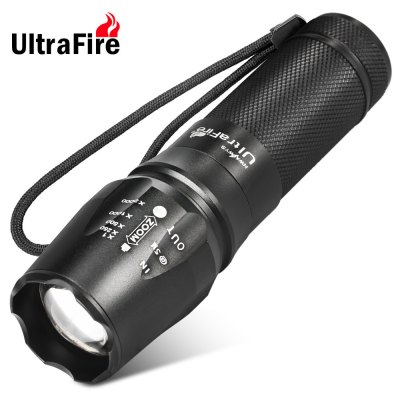 878 Cree XM-L T6 LED Zooming AAA / 18650 LED Flashlight Torch