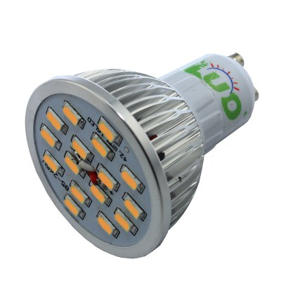 LUO GU10 7W 15 SMD 5630 650Lm Warm White LED Spot Light