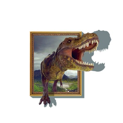 3D Dinosaur Style Removable Wall Stickers