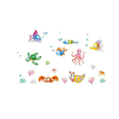Colorful Underwater World Style Wall Stickers