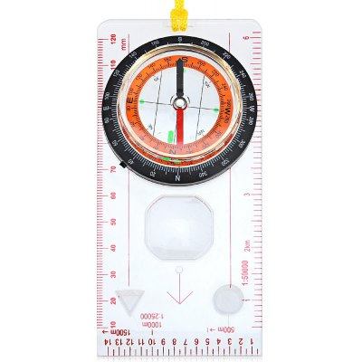 DC45-5C High Quality Ruler Map Compass with Lanyard for Outdoor Camping and Hiking