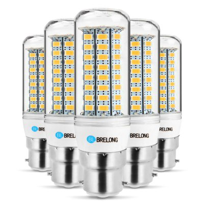 5 x BRELONG B22 12W 1200Lm SMD 5730 LED Corn Light Lamp