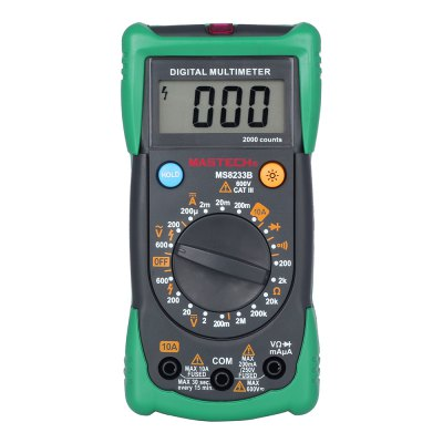 MASTECH MS8233B Professional Data Hold Digital Multimeter Support Diode Check / Continuity Test