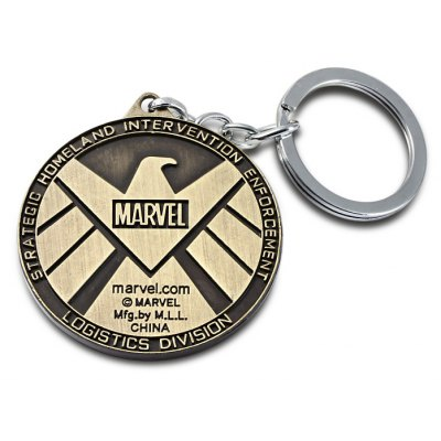 The Avengers-SHIELD Sign Metal Key Chain